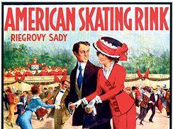 Antonín Brunner: American Skating Ring, Riegrovy sady, 1900, plakát