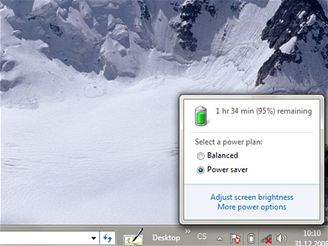 Windows 7 - výdrž na baterii je slabá