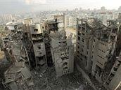 Následky nočních náletů izraelských stíhaček v pásmu Gaza (30. prosinec 2008)