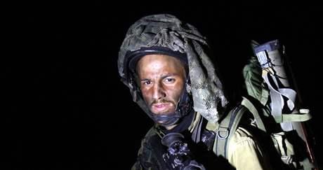 Izraelští vojáci v pásmu Gazy (4. ledna 2009)