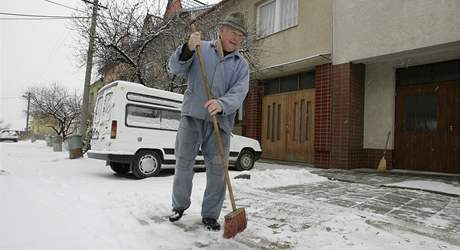 Sníh v Hustopečích