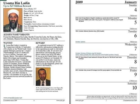 Antiteroristický kalendář, který vydalo americké Národní protiteroristické centrum (NCTC)