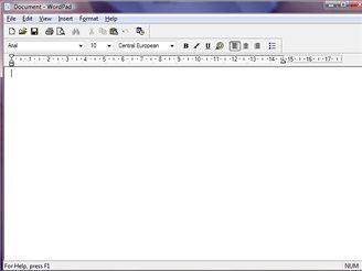 WordPad - Vista