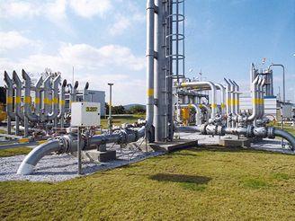 Zásobník zemního plynu Háje - odfuky