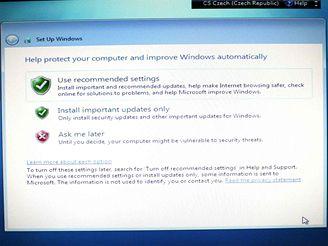 Nastavení zabezpečení Windows 7