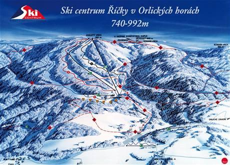 mapa - skiareál Říčky