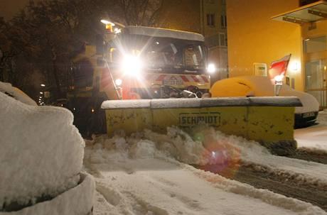 Přívaly sněhu v Německu (Dortmund)