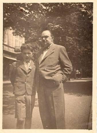 Yehuda Koliner s otcem v Teplicích