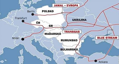 Mapa plynovodu 2