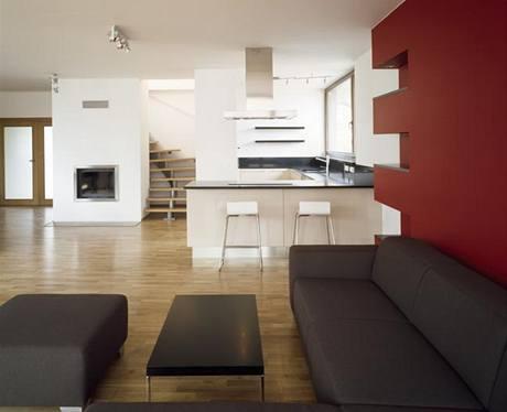 Kuchyně a obývák ještě před nastěhováním