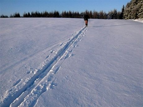 Na běžkách ve volné přírodě na Humpolecku