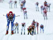 Lukáš Bauer na trati závodu Tour de Ski na 20 km klasicky ve Val di Fiemme