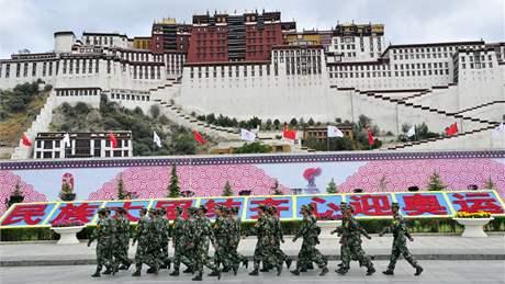 Palác Potala, legendární sídlo dalajlamů. (21. červen 2008)