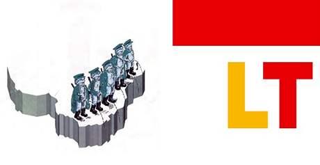 Zobrazení Litvy v plastice Entropa, která zdobí budovu Rady EU v Bruselu