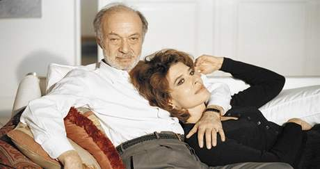 Claude Berri s herečkou Fanny Ardantovou