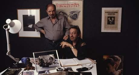 Claude Berri s hercem a zpěvákem Sergem Gainsbourgem