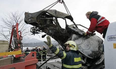 Tragická dopravní nehoda u Krhova na Blanensku si vyžádala čtyři životy