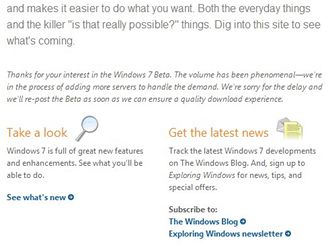 Microsoft Windows 7 beta download