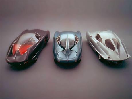 Berlinetta Aerodynamica Tecnica: (zleva) BAT 5, BAT 7, BAT 9