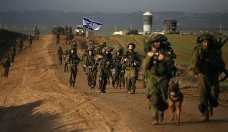 Izraelští vojáci se vracejí z mise v Gaze zpět do vlasti. (18. ledna 2009)