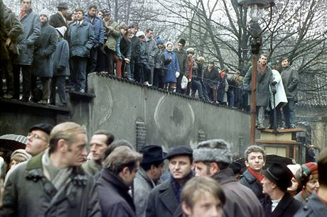 Manifestace v Praze v den Palachova pohřbu (25. ledna 1969)
