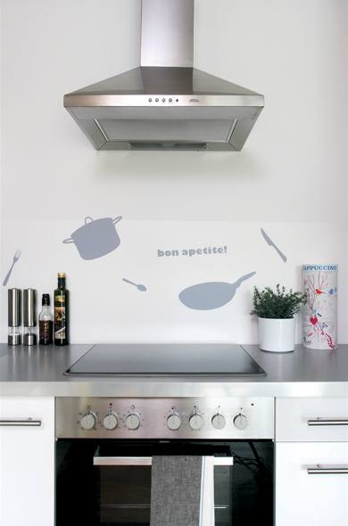 Netradiční výzdoba kuchyně je příjemným oživením