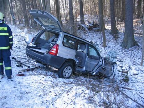Nehoda u obce v Petrovicích u Sušice.