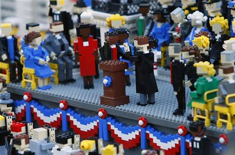 Legoland v kalifornském Carlsbadu odhalil repliku Obamovy inaugurace.