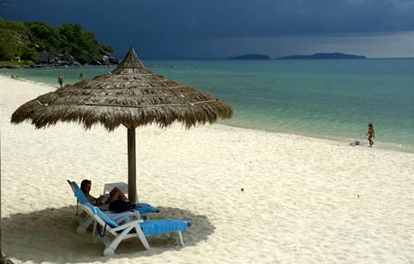 Kambodža, pláž u Sihanoukville