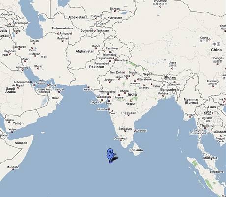 Maledivy, Indický oceán