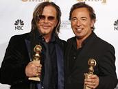 Zlaté glóby 2009 - zpěvák Bruce Springsteen a herec Mickey Rourke