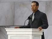 Inaugurační koncert We Are One - golfista Tiger Woods