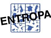 Umístění států sedmadvacítky v plastice Entropa, která zdobí budovu Rady EU v Bruselu
