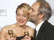 Zlaté glóby 2009 - Los Angeles, Kate Winsletová s manželem Samem Mendesem