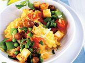 Vegetariánská paella s tofu