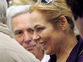 Dagmar Havlová v motolské nemocnici během schůzky konzilia.