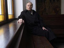 Jakub S. Trojan, evangelický farář, který pohřbíval Jana Palacha; leden 2009.