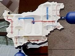 Zobrazení Bulharska v plastice Entropa, která zdobí budovu Rady EU v Bruselu