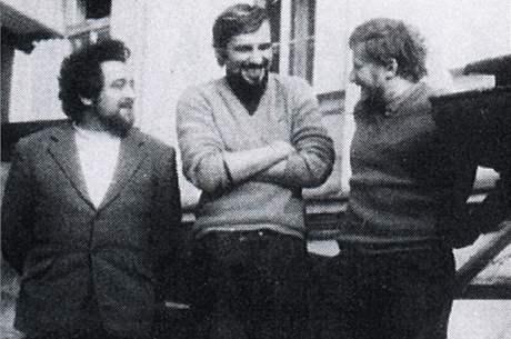 Zleva Emanuel Mandler, Jan Nedvěd a Bohumil Doležal, počátek 70. let