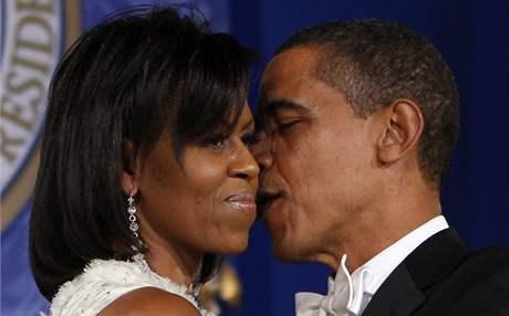 Prezident Barack Obama s první dámou Michelle na