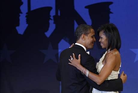 Prezident Barack Obama s první dámou Michelle na jednom z inauguračních bálů ve Washingtonu.