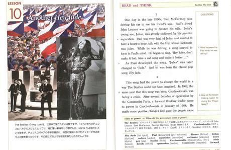 Marta Kubišová v učebnici pro japonská gymnázia