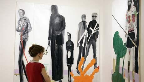 Výstava Transfer v Domě umění, obraz Jiřího Petrboka