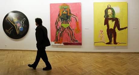 Výstava Transfer v Domě umění, obrazy Vladimíra Skrepla