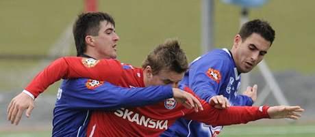 Finále zimní fotbalové Tipsport ligy: Kladno - Brno