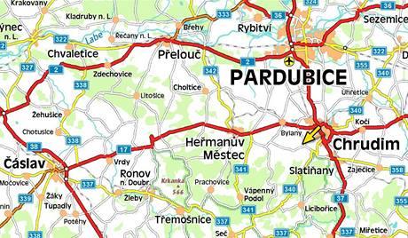 Mapa - Chrudim