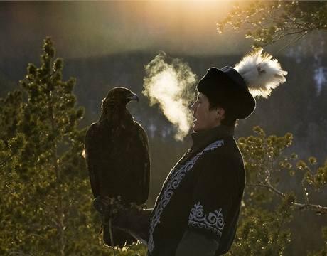 Kazašská výroční soutěž sokolníků