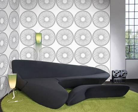 Výrazné tapety se používají jen na jednu či dvě stěny