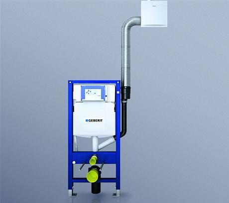 Zařízení pro odsávání pachu bylo vyvinuto na míru montážním prvkům Geberit Kombifix