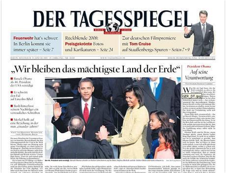 Titulní strana Der Tagesspiegel.